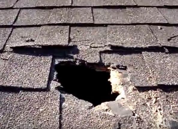 repair roof hole